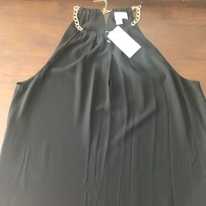 Michael Kors | Black tank top with Gold Chain neck